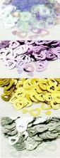 srdiečkové konfety na výzdobu