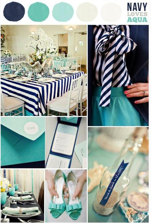 Wedding colour ideas... - Navy&Aqua