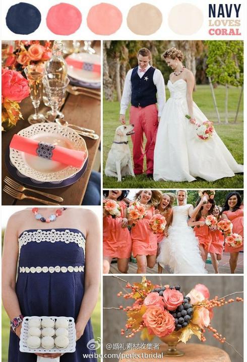 Wedding colour ideas... - Navy&Coral