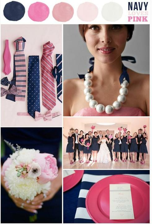 Wedding colour ideas... - Navy&Pink