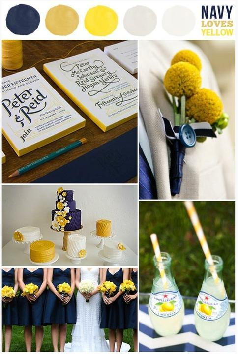 Wedding colour ideas... - Navy&Yellow