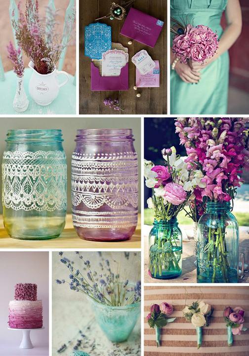Wedding colour ideas... - Purple&mint