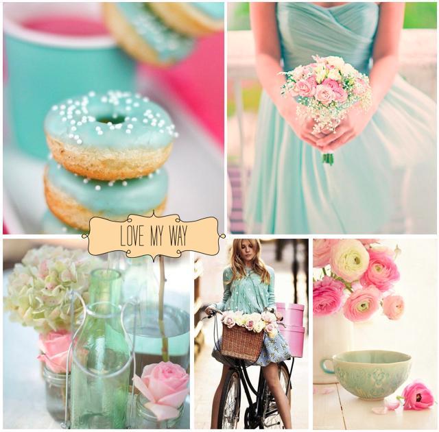 Wedding colour ideas... - Pink&Aqua