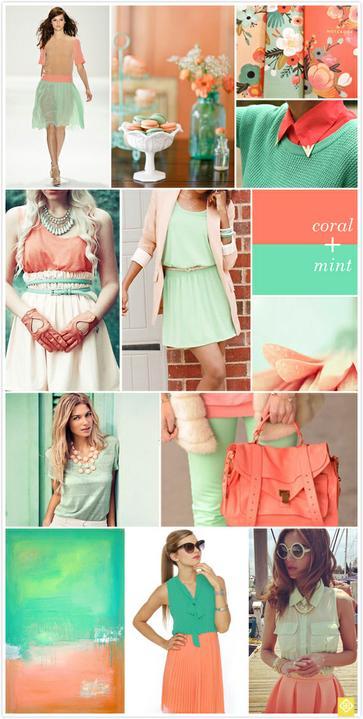 Wedding colour ideas... - Coral&Mint