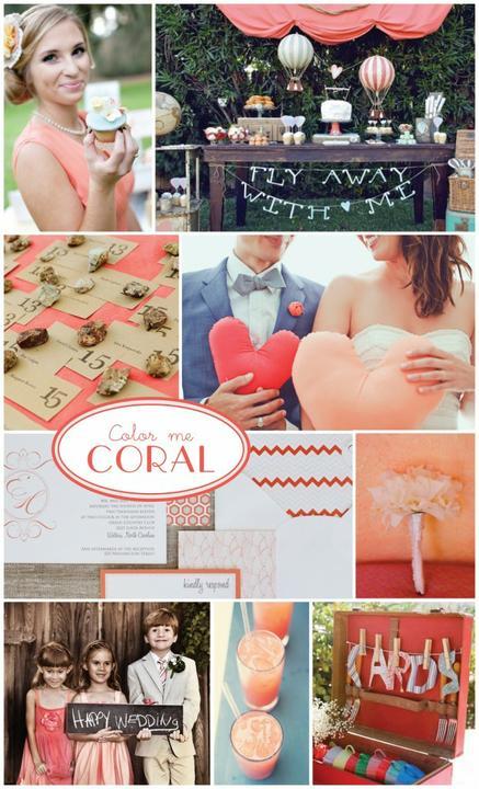 Wedding colour ideas... - Coral