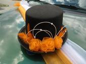 Cylindr - oranžové růže,