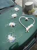 Dekorace pro nevěstu a ženicha - smetanová,