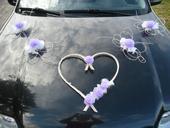 Svatební dekorace - lila,