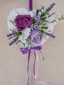 Srdíčko na dveře nevěsty s levandulí,