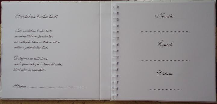 Čo už máme :) - Kniha hosti - vnutro :)