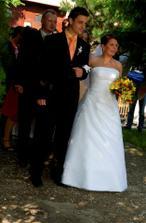 nastup na svadobny sprievod, vpredu moj brat
