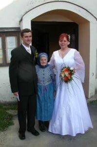 Daska ( duracelka ){{_AND_}}Milanko - s prastarou mamou, ktora oslavila 95 rokov