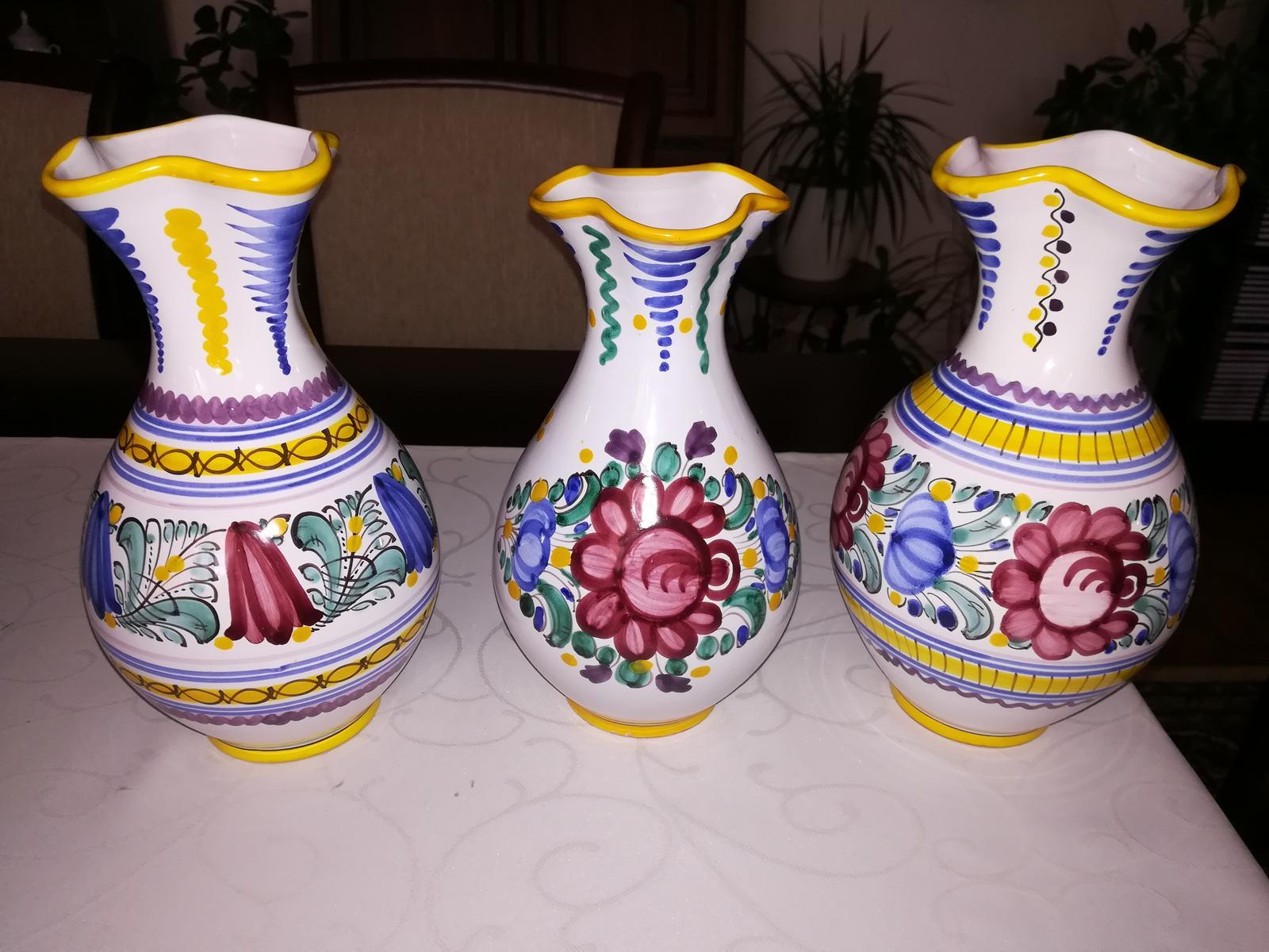 modranská keramika - 3 vázy - Obrázok č. 1