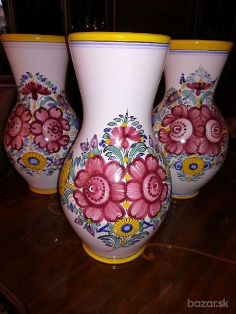 modranska keramika - 3 džbány - Obrázek č. 1