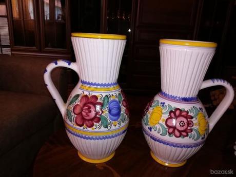 modranska keramika - 2 džbány - Obrázok č. 1