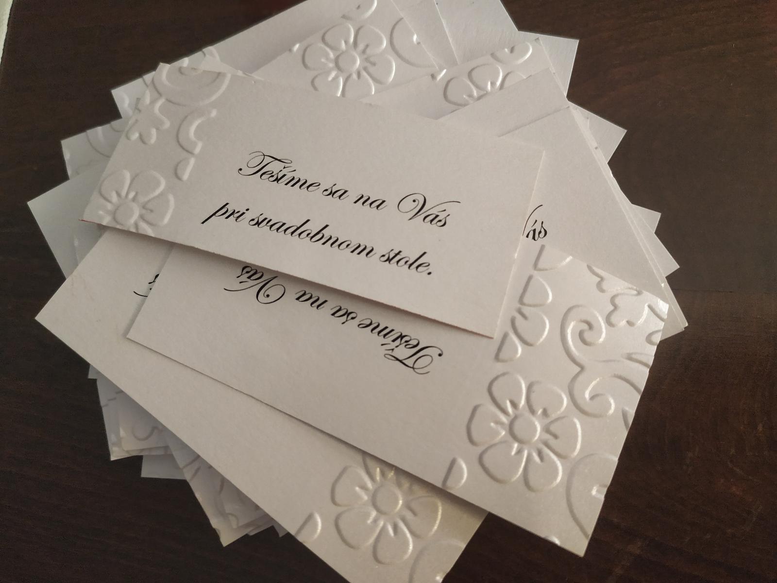 svadobné pozvánky k svadobnemu stolu - Obrázok č. 2