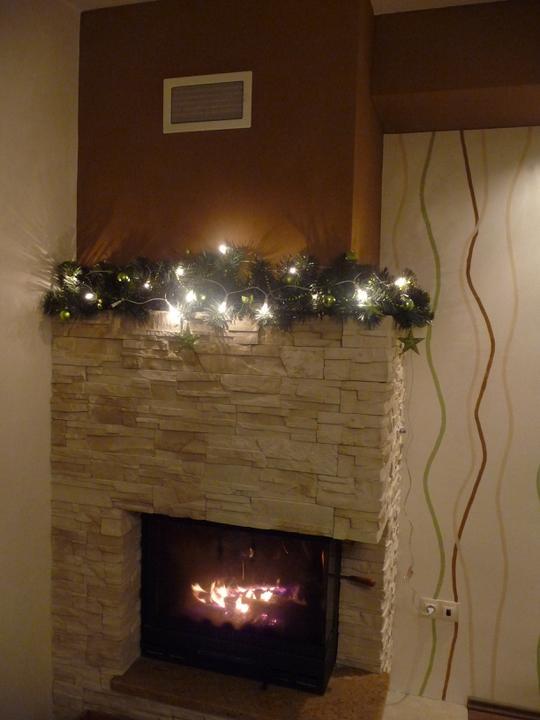 Střípky od nás - vánoční krbík :))