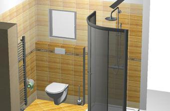 vizualizace spodní koupelna