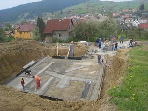 Betónovanie základovej dosky