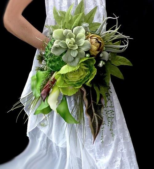 Svatební kytice Jungle + korsáž - Obrázek č. 2
