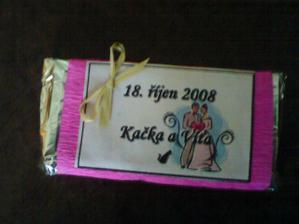 čokoládky pro hosty