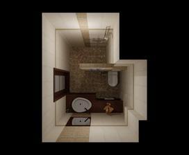 Vizualizacia kupelky (rozdiel oproti vizualizacii bude ze obklad bude nie po strop)