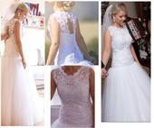 Čipkované šaty s tylovou sukňou , 36