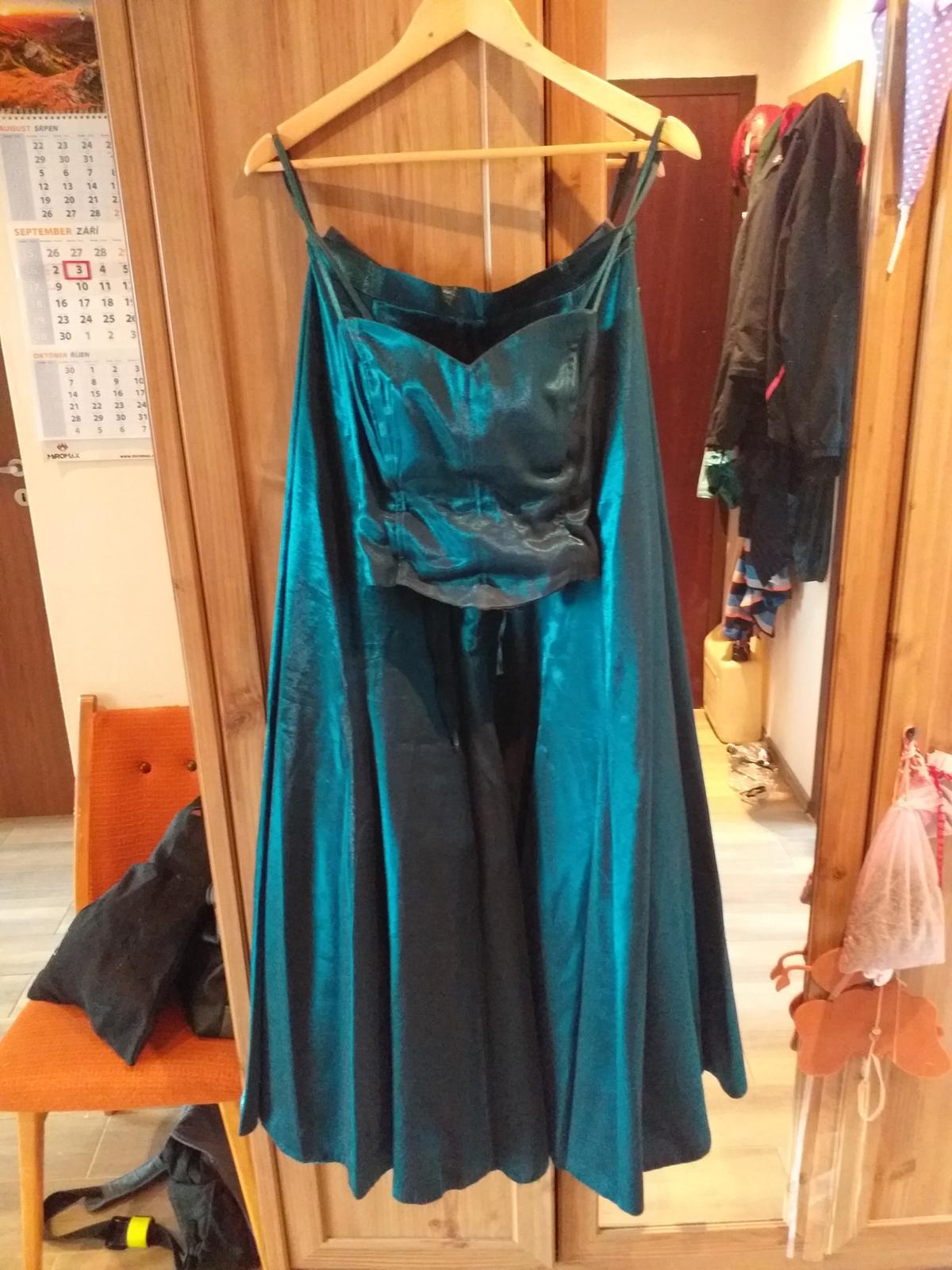 Tmavozelené šaty  - Obrázok č. 4