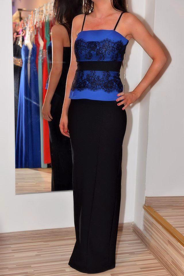 Čierno - modré šaty - Obrázok č. 1