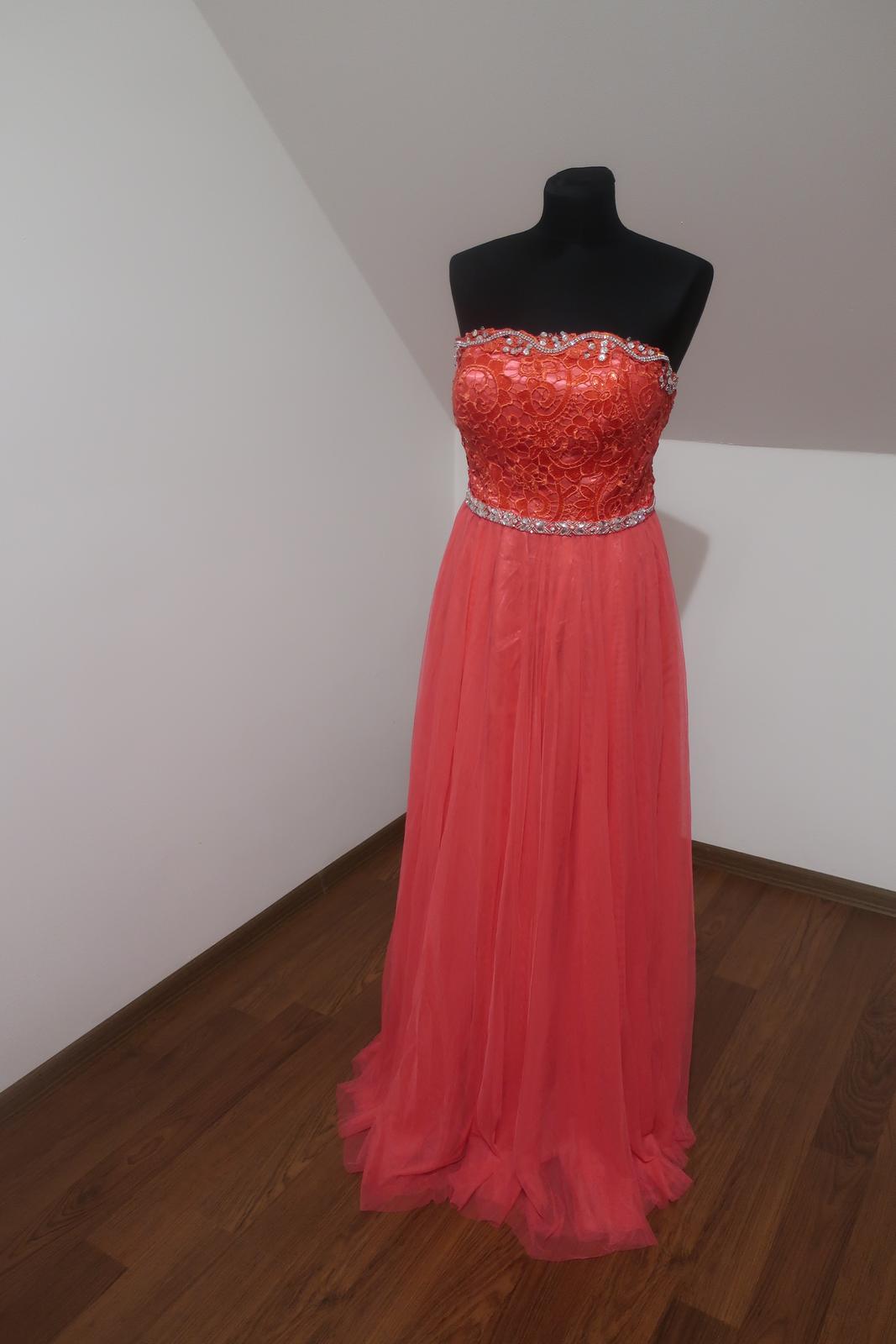 Dlhé spoločenské šaty S/M - Obrázok č. 2
