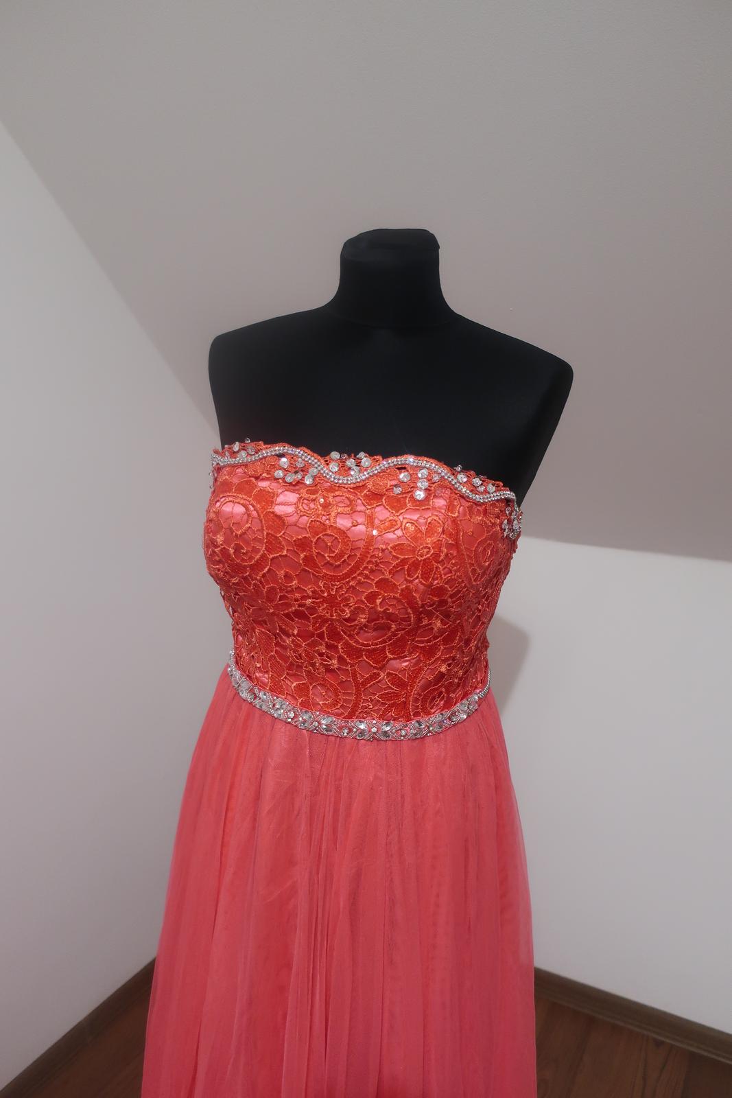 Dlhé spoločenské šaty S/M - Obrázok č. 3