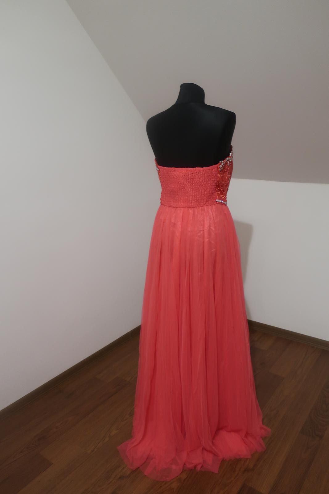 Dlhé spoločenské šaty S/M - Obrázok č. 4