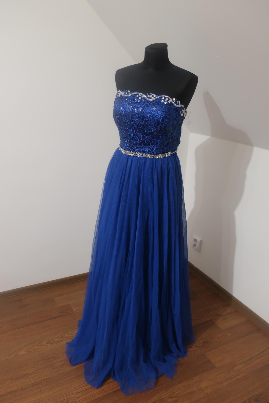 Dlhé modré šaty - Obrázok č. 1