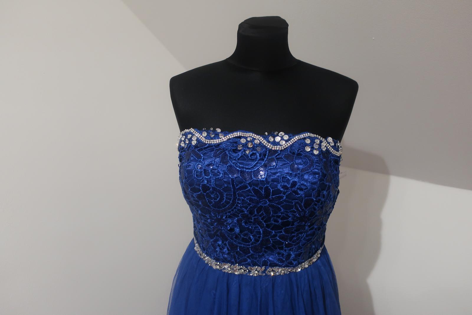 Dlhé modré šaty - Obrázok č. 2