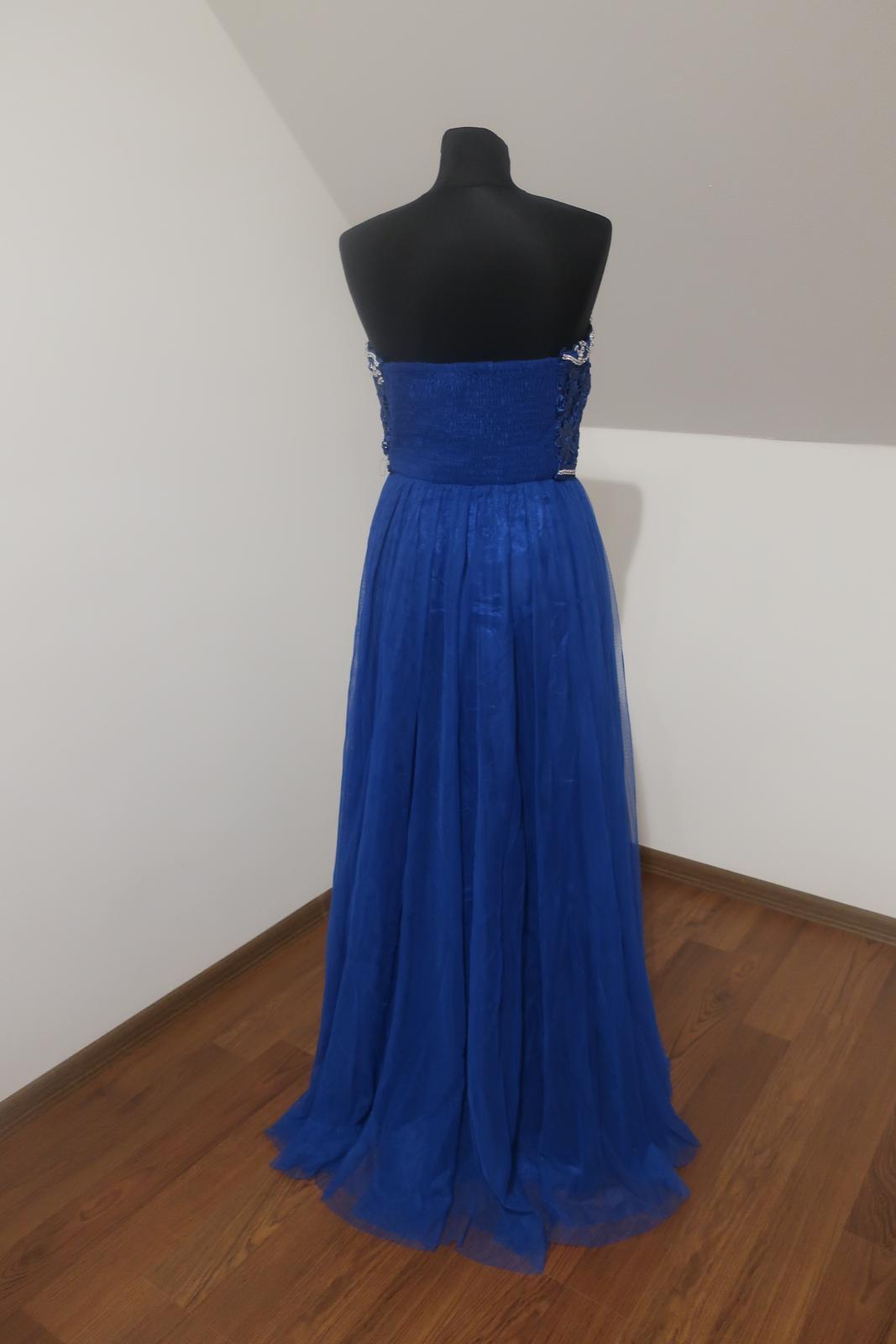 Dlhé modré šaty - Obrázok č. 3