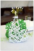 Papírová srdce 5 ks zelené, 5 kusů bílé,