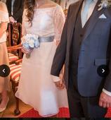 Krátké svatební šaty , 38