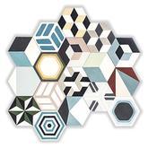 Náhodný patchwork vzorovaný (šesťuholníky) - 64,80 € s DPH/m2 (zníženie o 44-50%).