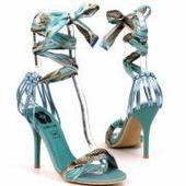 Tyrkysové dámske sandálky, 38