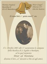 Oznámenie v talianskom jazyku