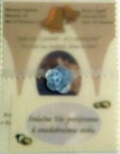oznámenie a pozvánka vo vyrobenom pauzáku