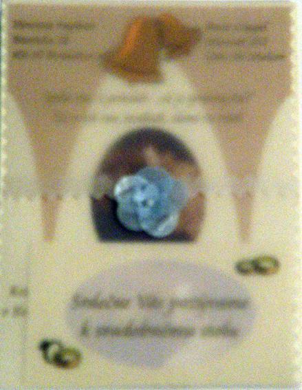 Svadobné oznámenie a ostatné na 1.10.2005 - oznámenie a pozvánka vo vyrobenom pauzáku
