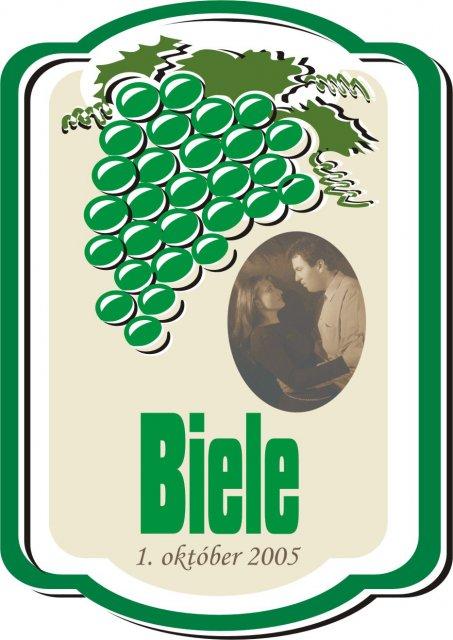 Svadobné oznámenie a ostatné na 1.10.2005 - etiketa na víno