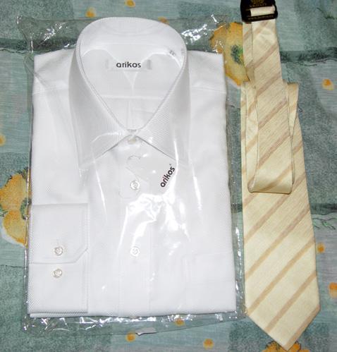 Svadobné oznámenie a ostatné na 1.10.2005 - košeľa na obrad, kravata po polnoci