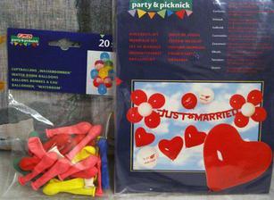 balóniky na výzdobu