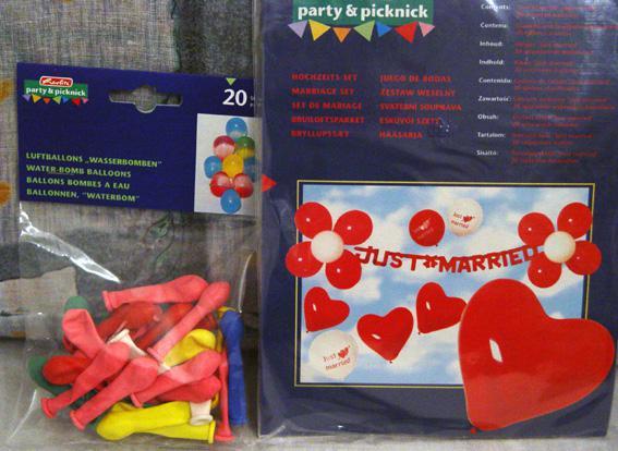 Svadobné oznámenie a ostatné na 1.10.2005 - balóniky na výzdobu