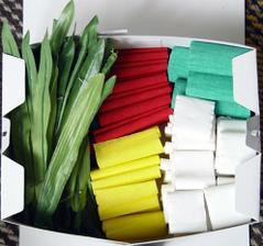 krepový papier na výzdobu