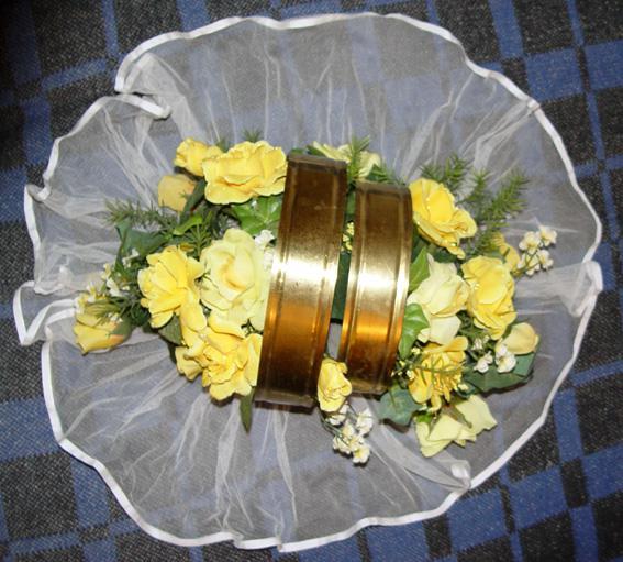 Svadobné oznámenie a ostatné na 1.10.2005 - kytiva na auto