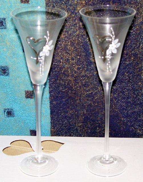Svadobné oznámenie a ostatné na 1.10.2005 - svadobné poháre
