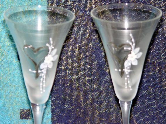 Svadobné oznámenie a ostatné na 1.10.2005 - naše svadobné poháre
